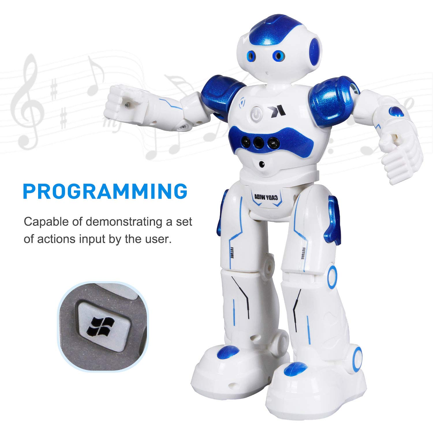 SGILE Remote Control Robot, RC Programmable Educational Robot for Kids Birthday Gift Present, Interactive Walking Singing Dancing Smart Intelligent Robotics for Kids Boy, Blue by SGILE (Image #2)