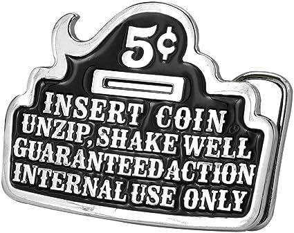 Insert 5 Cents UnZip Belt Buckle