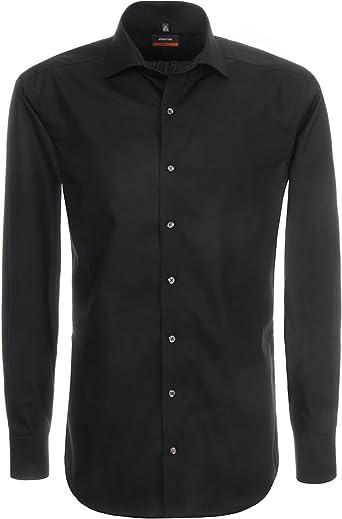 Herrenhemd Slim Fit Langarm Creme oder Weiß