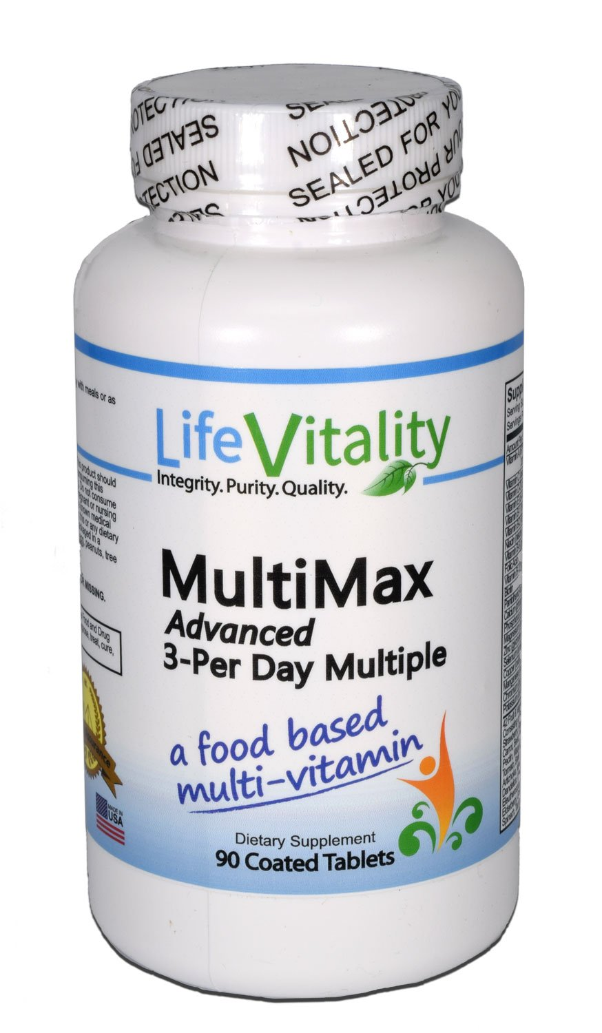 Amazon.com: Life Vitality MultiMax Advanced 3-per-day Multiple, a Food Based Multi-vitamin, 90 Coated Tablets: Health & Personal Care