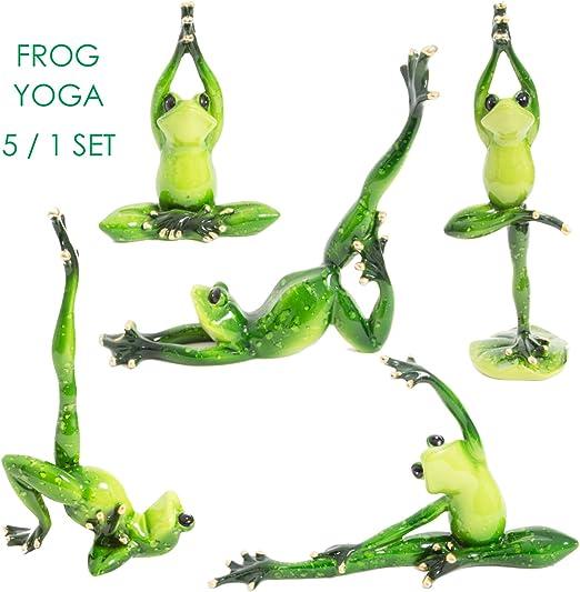 Amazon.com: Equipo Rana Yoga Figura decorativa de estuco en ...