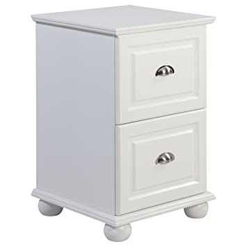 Genial Amazon.com : Compact 2 Drawer White Storage File Cabinet With Half Moon  Metal Pulls : Office Products