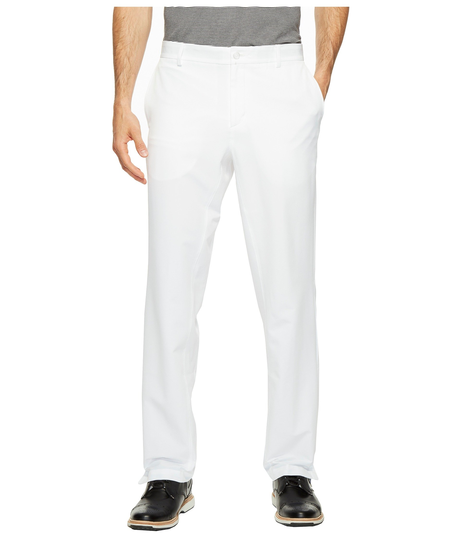 NIKE Men's Flex Hybrid Golf Pants, White/White, Size 34/32 by Nike