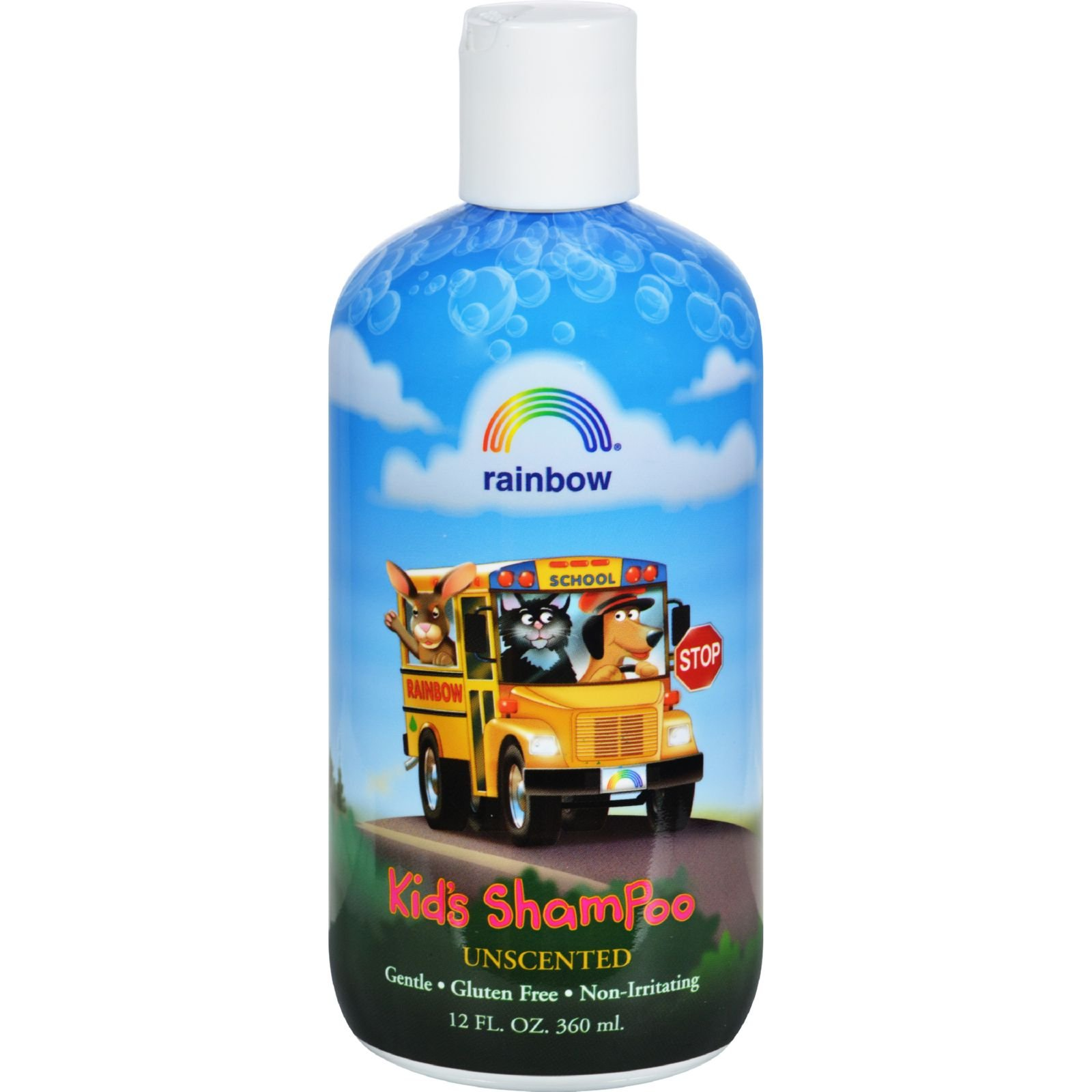 Rainbow Research Organic Herbal Shampoo For Kids Unscented - Non Irritating - Gentle - 12 fl oz (Pack of 4) by Rainbow Research