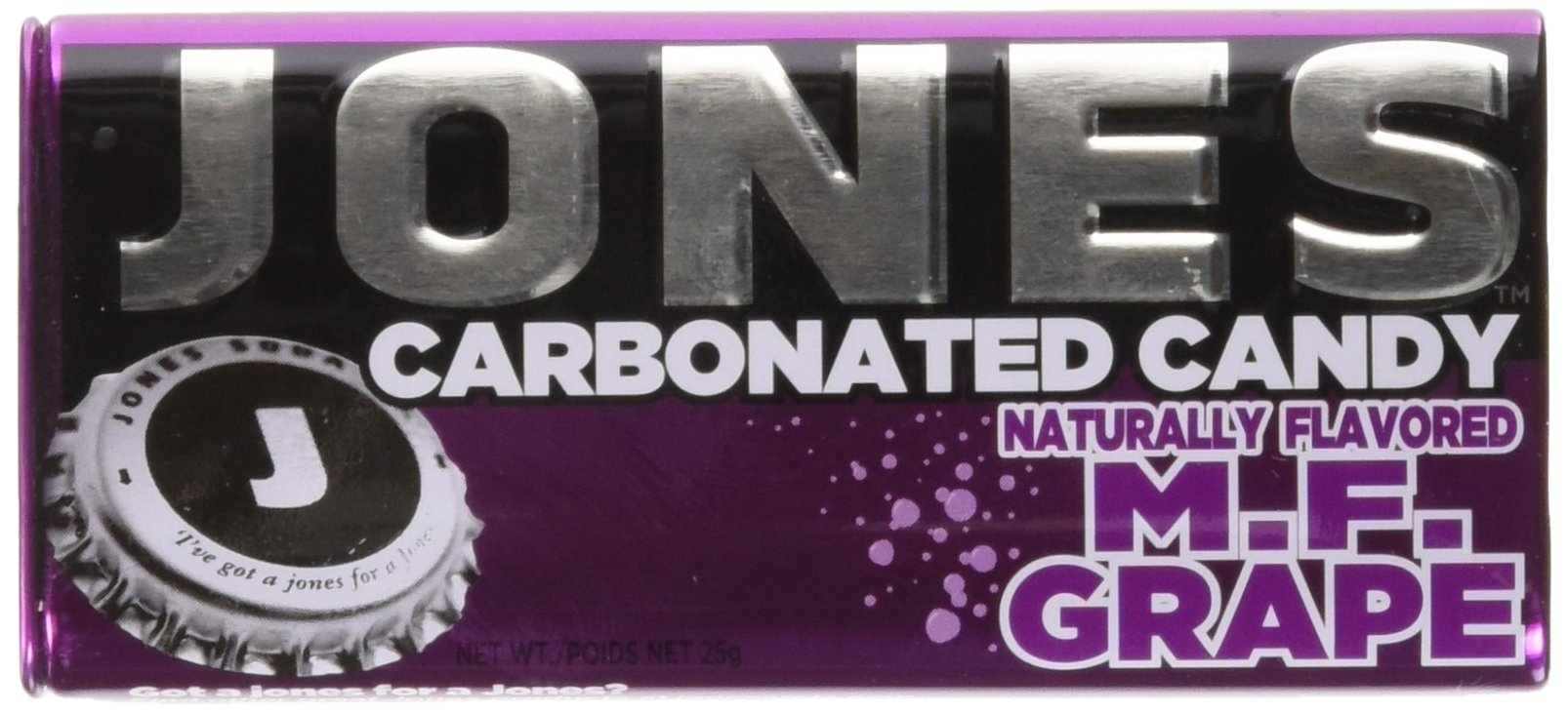 CDM product JONES Soda Carbonated Candy, Grape, Pack of 8 big image