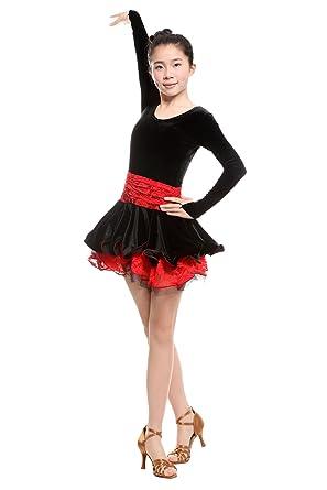 6e088960bbe7 Amazon.com: Colorfulworldstore Girls Latin Salsa Tango Ballroom Dance Dress-Overall  Regulation Grading Styles: Clothing
