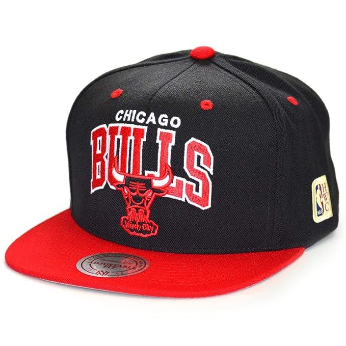 Mitchell & Ness Gorras Chicago Bulls Team Arch Black/Red Snapback