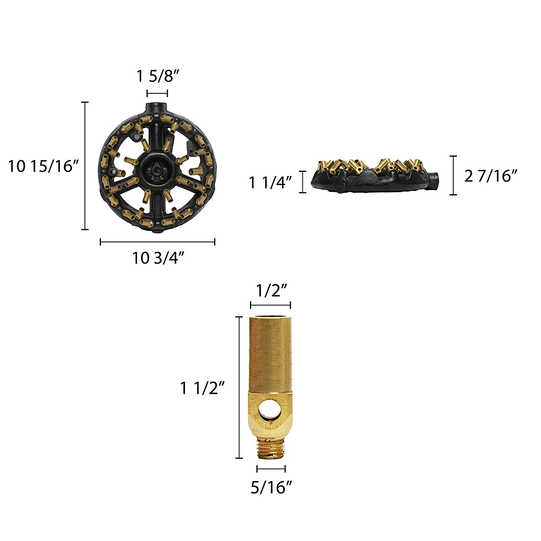 9 Chinese Wok Range Speed Burner 16 Copper Tips