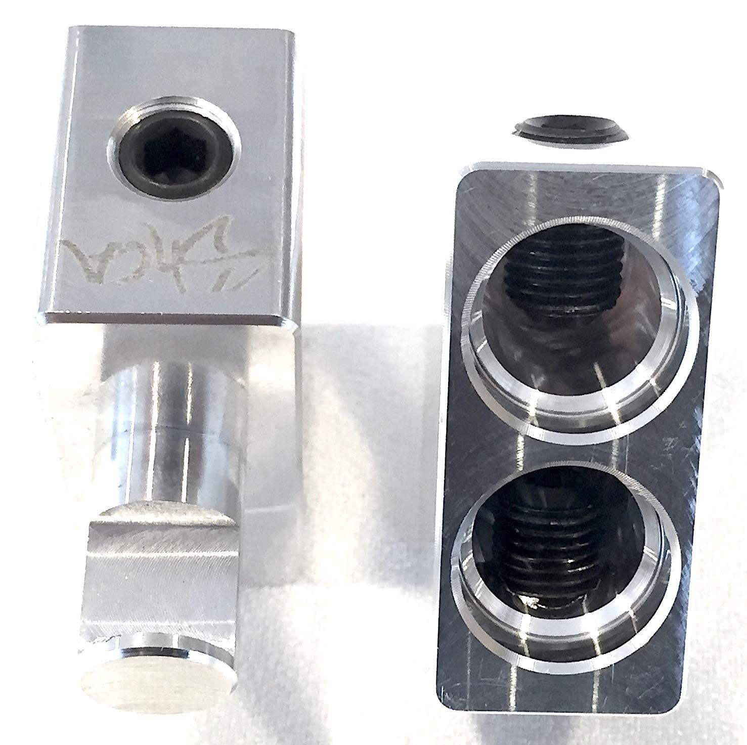 Pair of Sky High Car Audio Dual 2//0 Gauge to 1//0 Gauge Amp Input Reducers
