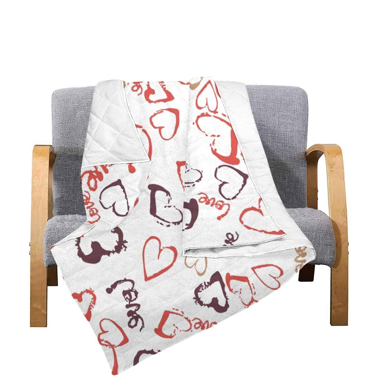 Amazon.com: InterestPrint Hearts Pattern Comforter Thin ...