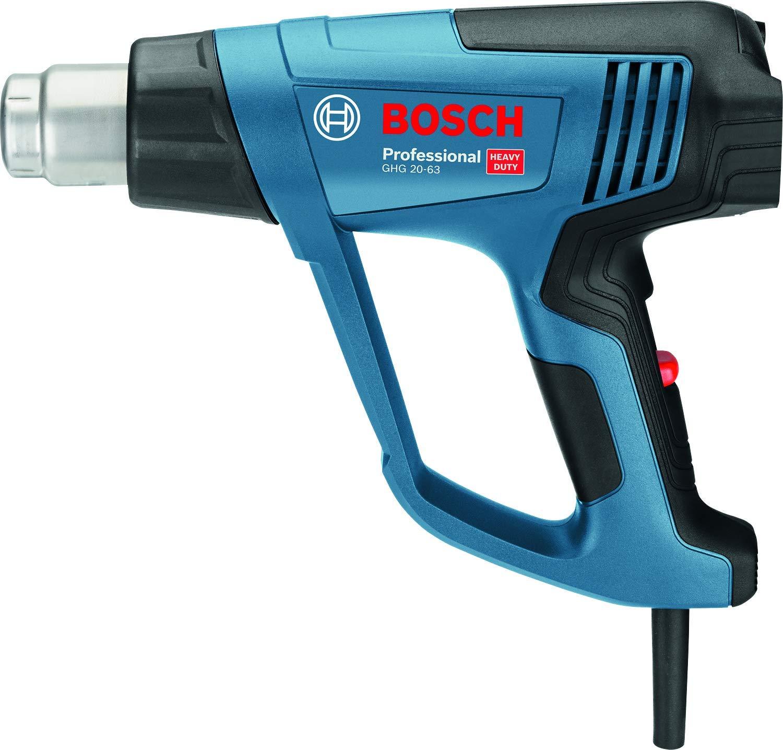 Bosch Professional Heiß luftgeblä se GHG 23-66 (2300 Watt, Temperaturbereich 50-650° , Display, 5 Dü sen, in Tragetasche) 06012A6301