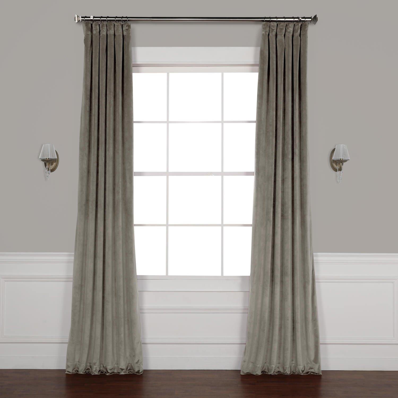 VPYC-179917-84 Heritage Plush Velvet Curtain, Hyacinth, 50 x 84