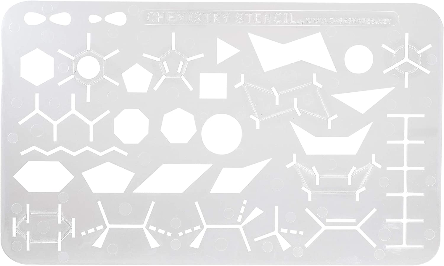 Organic Chemistry Stencil Drawing /& Drafting Template by Easyshapes Easyshapes