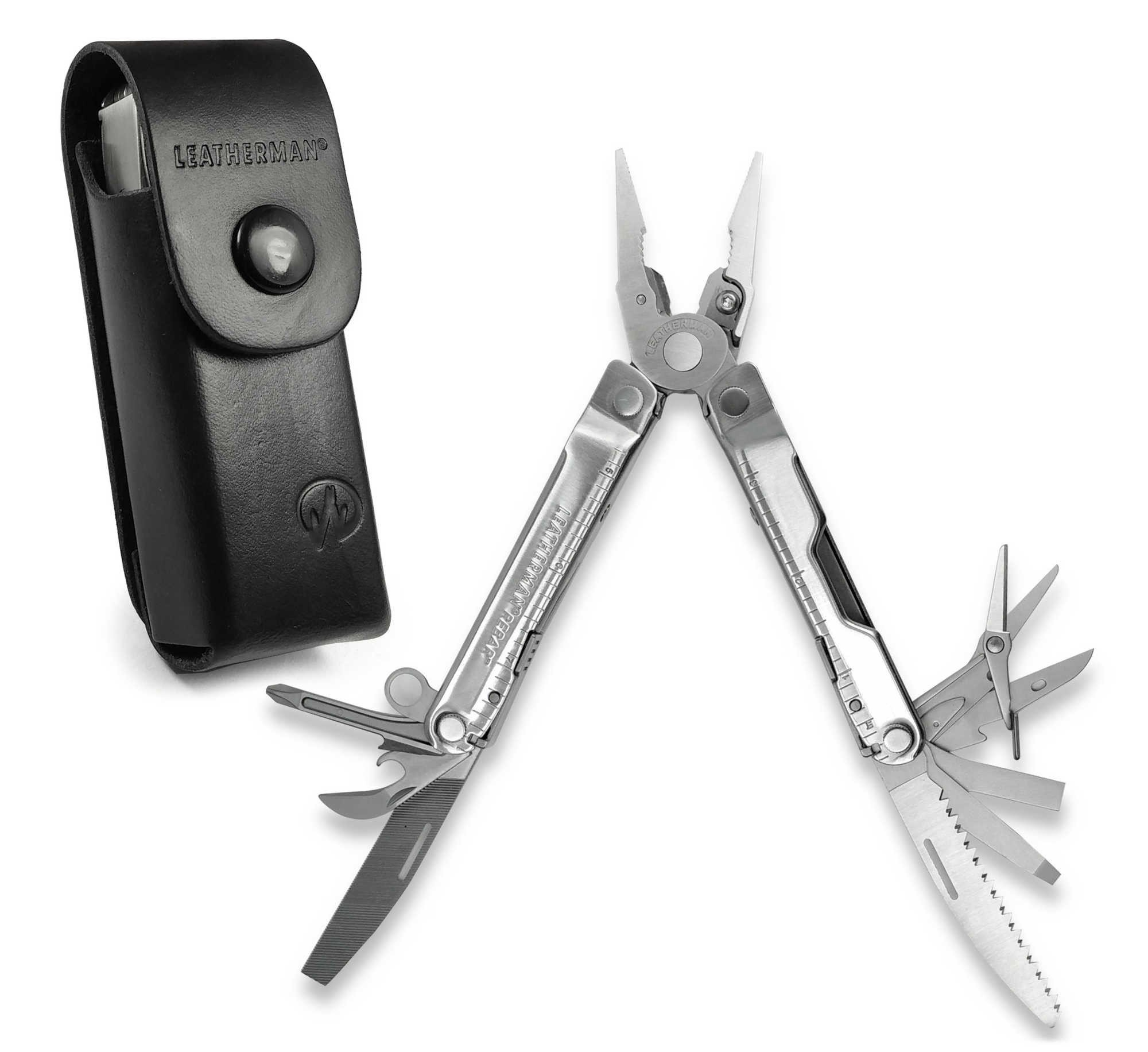 Leatherman Rebar EDC Multi Function Tool (With Personalised Case) - Silver Steel