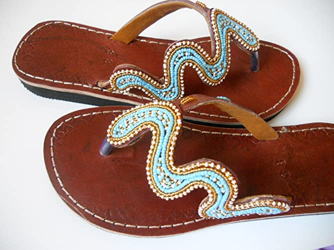 44e112143939 Amazon.com  Beaded sandals US 9.5 (EU 41)