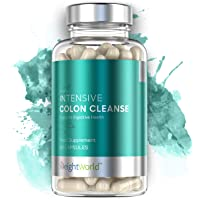 WeightWorld Intensive Colon Cleanse Tablets - Bowel Cleanse + Colon Detox Pills, Targets Bloating Relief and Weight Loss Routine - 10 Day Herbal Colon Cleanse - 60 Detox Capsules