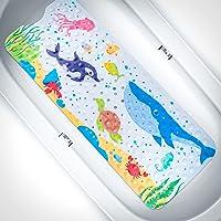 Alfombra de Bañera Antideslizante, Alfombrilla Antideslizante para Bañera para Niños, Alfombra de Baño Extra Larga con…