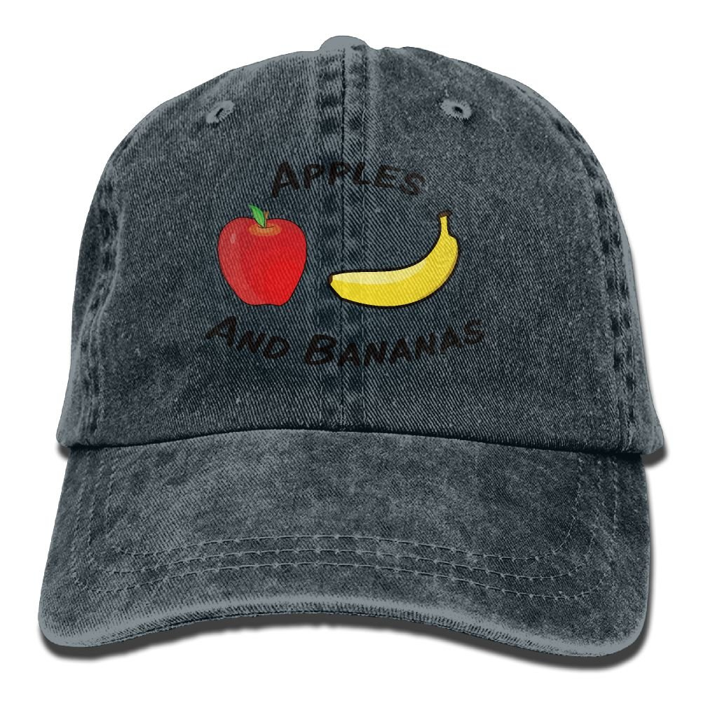 Apples and Bananas Trend Printing Cowboy Hat Fashion Baseball Cap for Men and Women Black