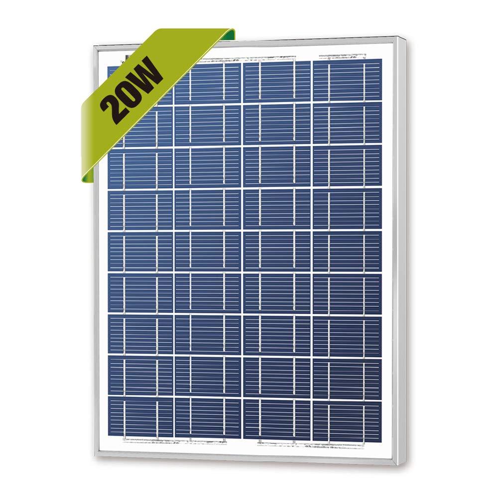 Newpowa 20w Watts 12v Poly Solar Panel Module Rv Marine Boat Off Grid by Newpowa