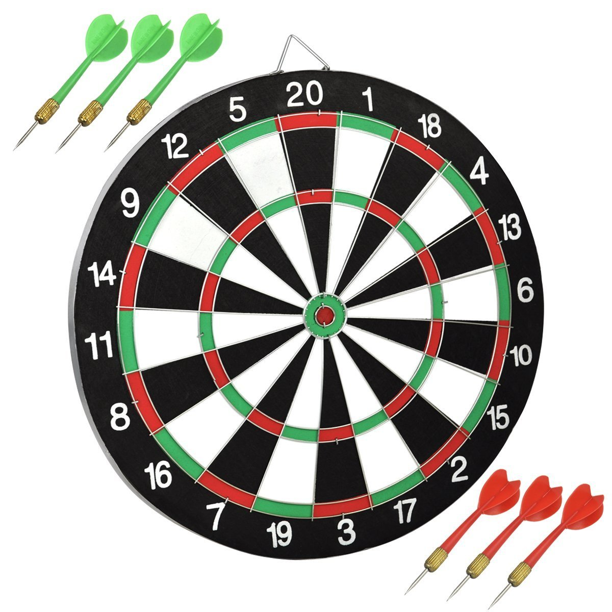 #1 Unibos Large Dartboard Double Sided Dart board with 6 Darts Party Game Set Doink It ***LIMITED TIME OFFER*** HURRY UNI03/671