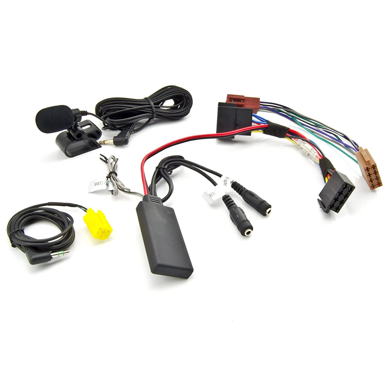 Bluetooth Aux Adaper für SMART Fortwo 451 ab 2007 MP3 Musik Streaming Spotify