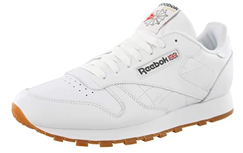 best loved casual shoes designer fashion Reebok Men's Classic Leather Fashion Sneaker (45-46 M EU / 12 D(M) US,  Us-White/Gum)