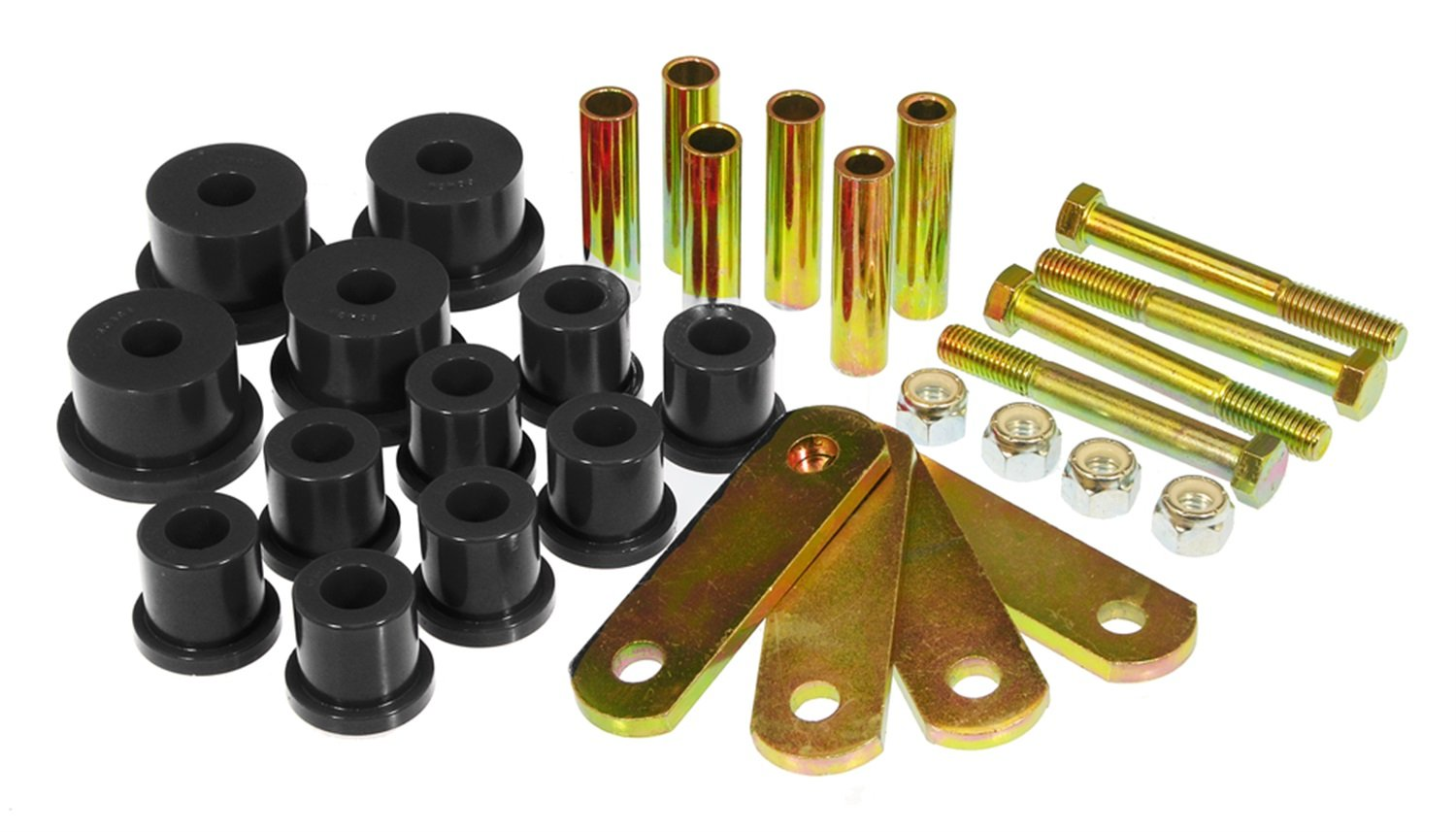 Prothane 6-1053-BL Black Spring Eye and HD Shackle Bushing Kit