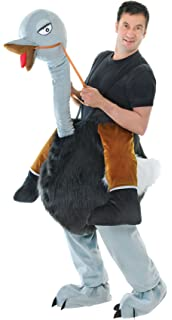 Unisex Step In Ostrich Costume for Animal Bird Emu Fancy Dress Outfit Adult