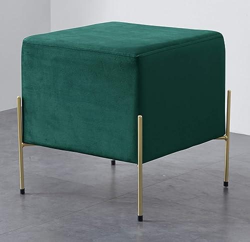 Ornavo Home Bryant Modern Contemporary Square Upholstered Velvet Vanity Ottoman