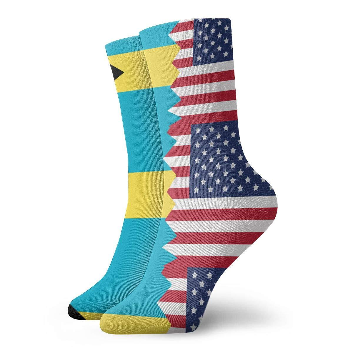 Adult Ferris Wheel Color Pattern Athletic Ankle Socks