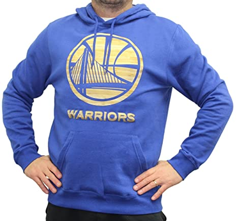 a517d4ad Image Unavailable. Image not available for. Color: Majestic Golden State  Warriors NBA Court Tek Patch Hooded Sweatshirt