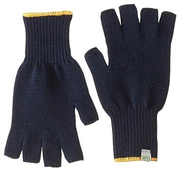 Minus33lana Merino ropa guantes sin dedos para maletero, hombre mujer, azul marino