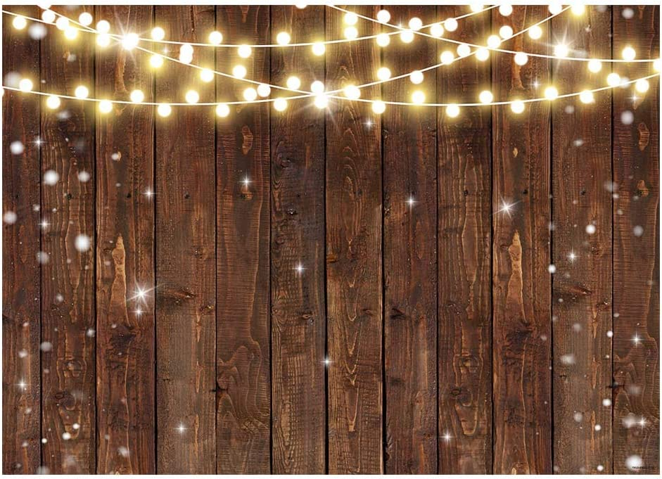 DORCEV 10x8ft Snowflake Wood Wall Backdrop Birthday Party Baby Shower Christmas Party Photography Background White Snowflake Texture Vintage Wood Wall Xmas Party Banner Kids Adult Photo Studio Props