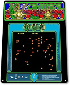 """Wenyisign Centipede Classic Atari Arcade Marquee Game Room Wall Art Decor - 8""""X12"""" Tin Metal Sign"""