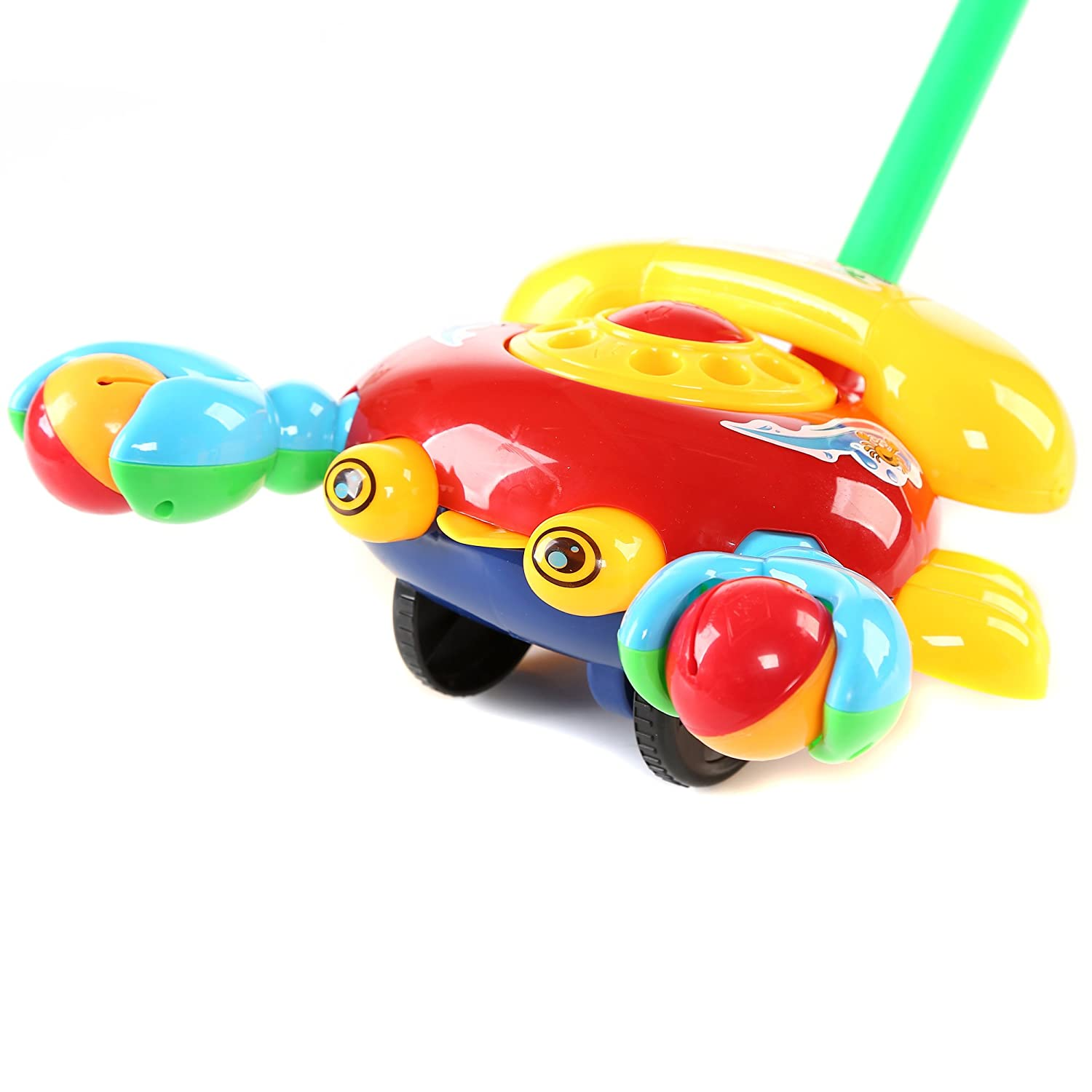 Fun Central BC902 1 Pc 10.5 Inches Telephone Push Toy Pushing Toy for Kids Outdoor Push Toys Classic Push and Pull Toys Push Around Toy for Baptism Birthday and Party Prizes