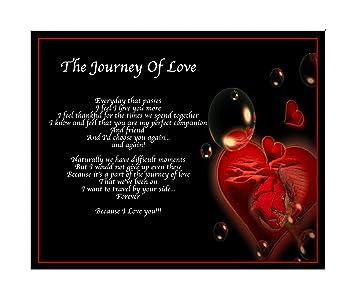 Amazon De Personalisierte Reise Der Liebe Gedicht Geburtstag