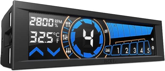 NZXT Sentry 3 5.4-Inch Touch Screen Fan Controller Cooling (AC-SEN-3-B1)