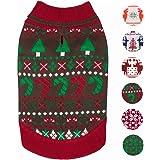Blueberry Pet 3 Patterns Vintage Holiday Festive Christmas Themed Dog Sweater