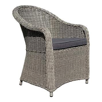 Amazonde Dasmöbelwerk Polyrattan Stuhl Mit Sitzpolstern Rattan