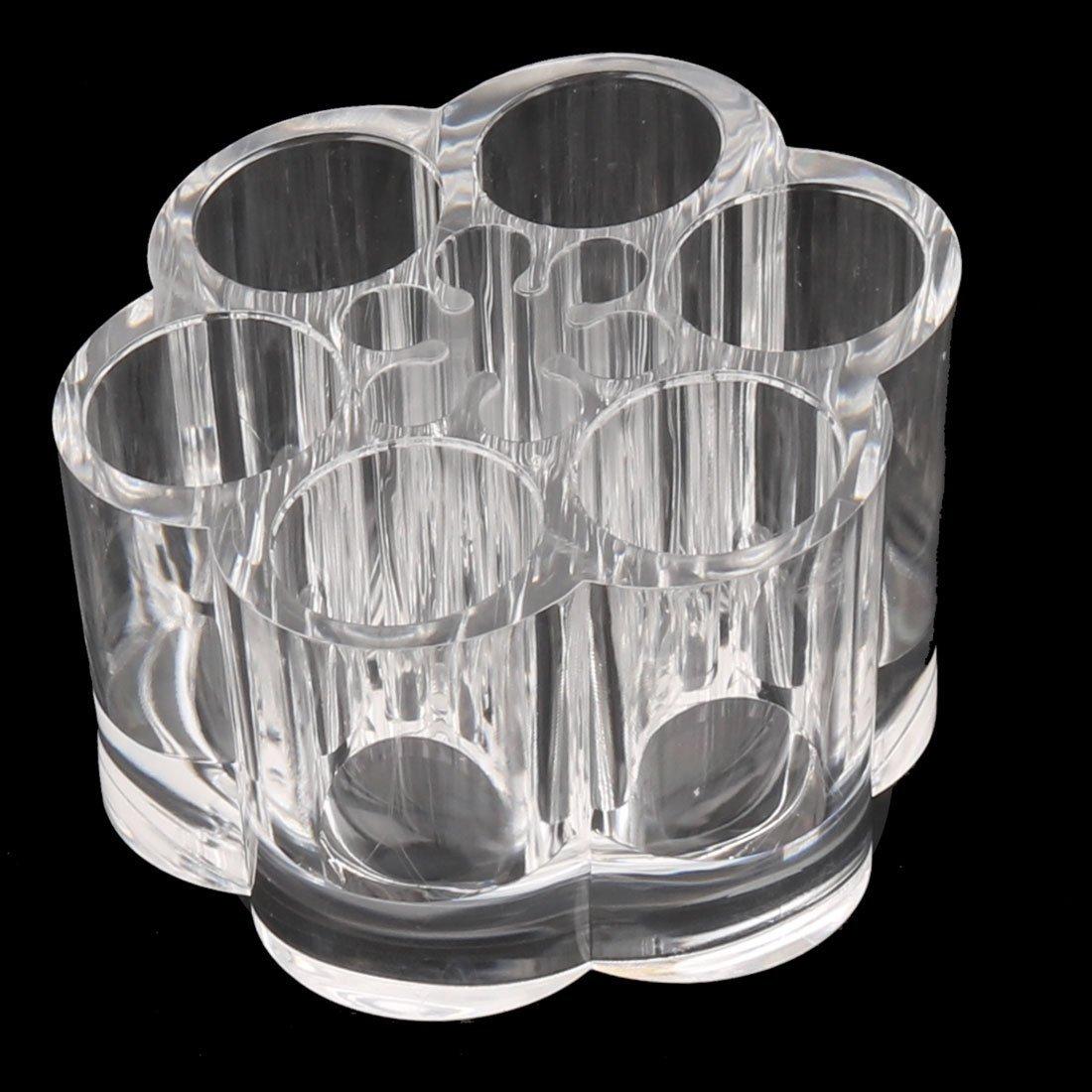 Amazon.com: eDealMax Forma Flor de acrílico del lápiz Labial cepillo cosmética caja de la joyería del sostenedor del organizador Claro: Home & Kitchen