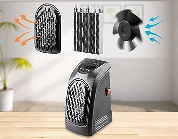 Takestop® - Estufa ovalada eléctrica de 400 W, calentamiento rápido, portátil, enchufe