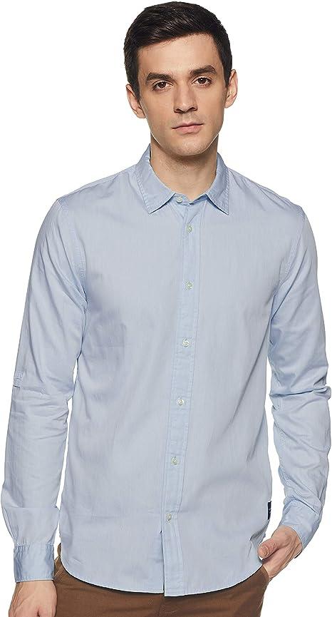 Scotch /& Soda Mens Washed Shirt