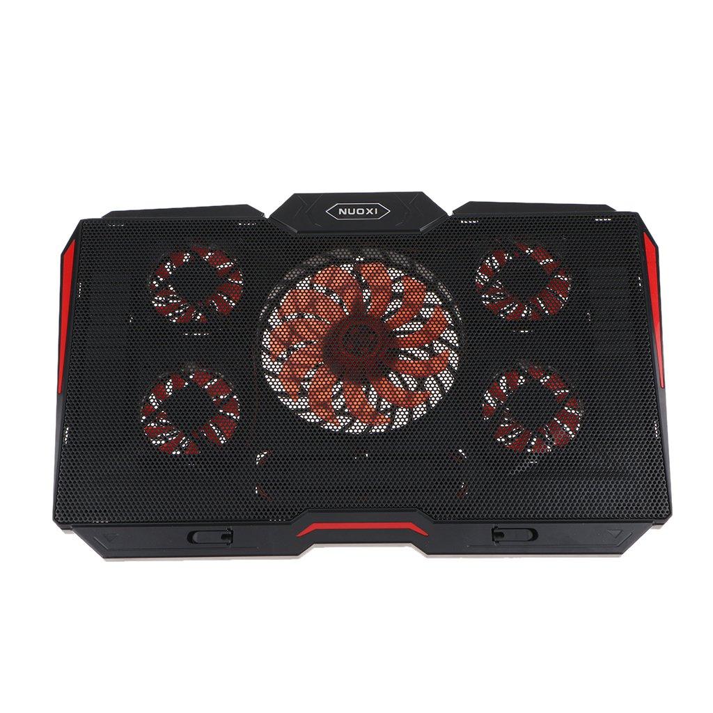 Flameer デュアルUSBポート ノートパソコン冷却パッド 高さ調整可能 17インチPC用   B07GBMKRXR