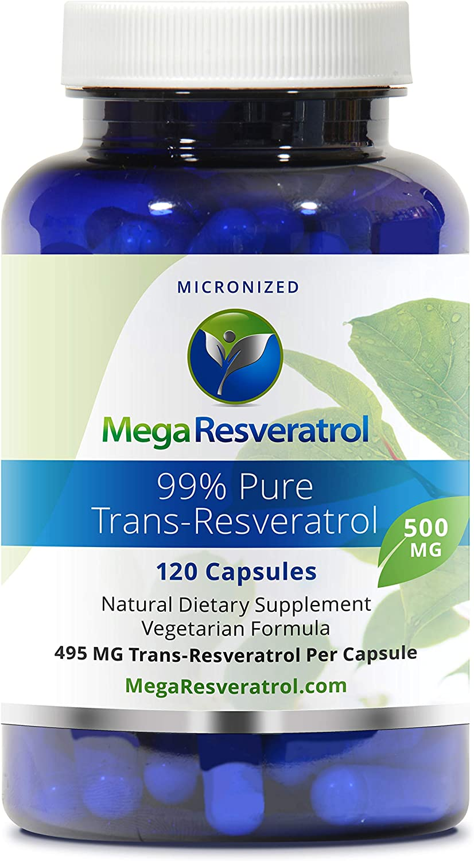 Amazon Com Mega Resveratrol Pharmaceutical Grade 99 Pure
