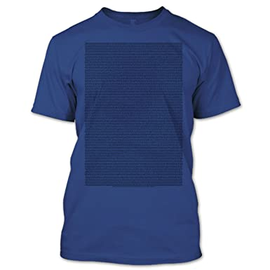 fac20544 Premium Fan Shirts Bee Movie Script T Shirt (M, Navy) | Amazon.com