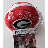 $196 » D'Andre Swift Signed Georgia Bulldogs Mini Football Helmet w COA DD22768 C - JSA Certified - Autographed College Helmets