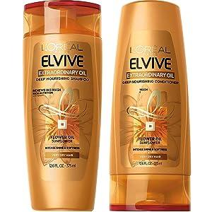 LOreal Paris Elvive Extraordinary Oil Deep Nourishing Shampoo and Conditioner Set 12.6 fl. Oz.