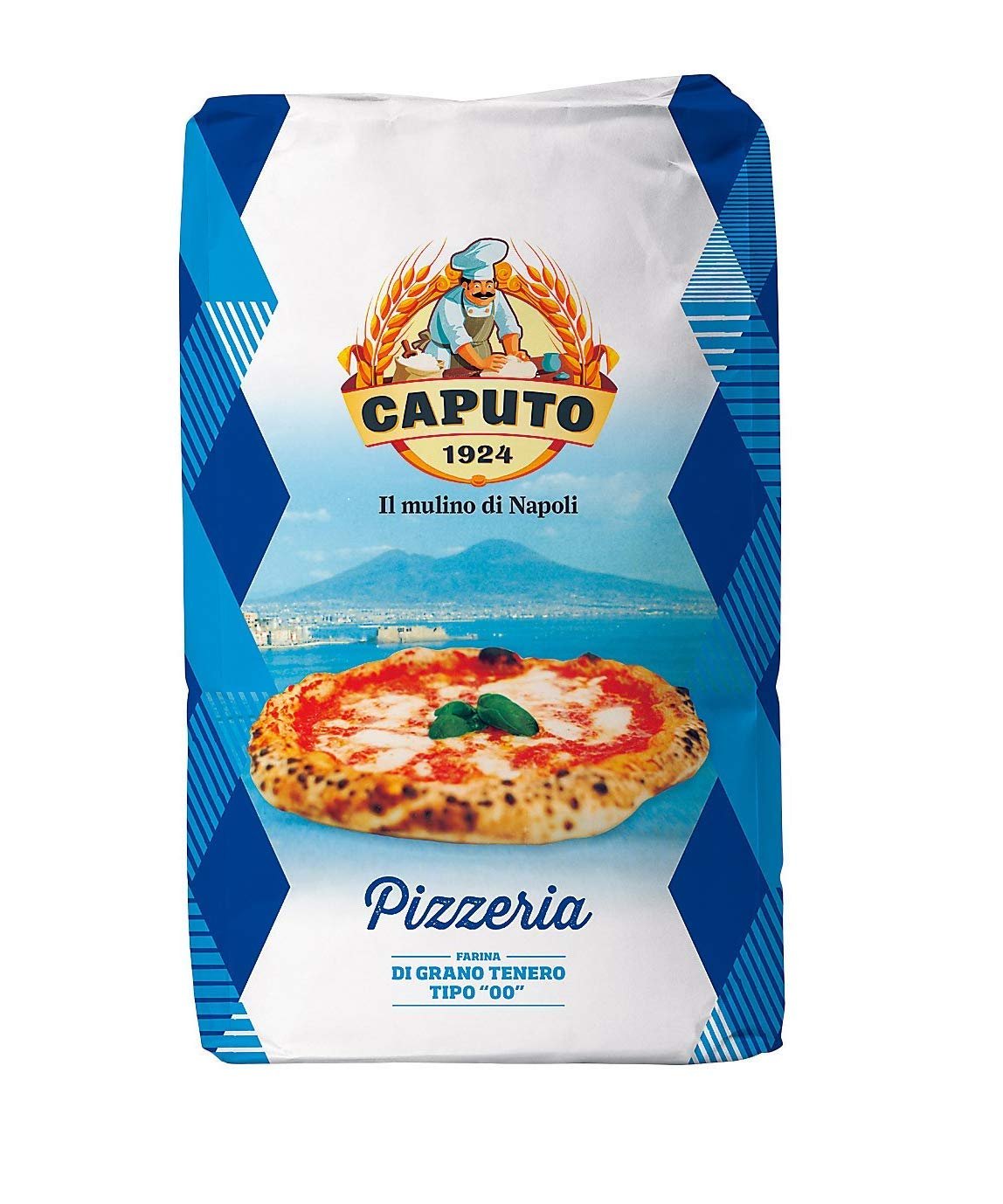 Antimo Caputo Pizzeria Flour 55 LB Blue Bulk Bag - Italian Double Zero 00 - All Natural Wheat for Authentic Pizza Dough, Bread, & Pasta by Antimo Caputo