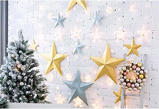 Free Wrinkle Christmas Decor Photography Backdrop 7x5 Customized Blue Photography Background Wood Glitter Snowflowers Backdrops for Kids Baby Xmas Pictures