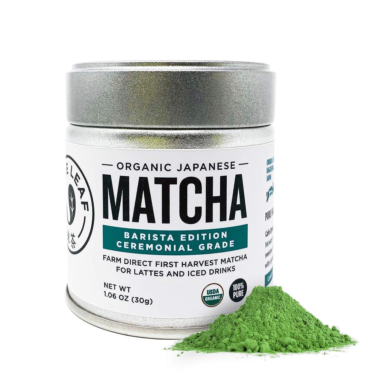Jade Leaf Organic Ceremonial Grade Matcha Green Tea Powder - Authentic Japanese Origin - Barista Edition For Cafe Quality Tea & Lattes (1.06 Ounce)